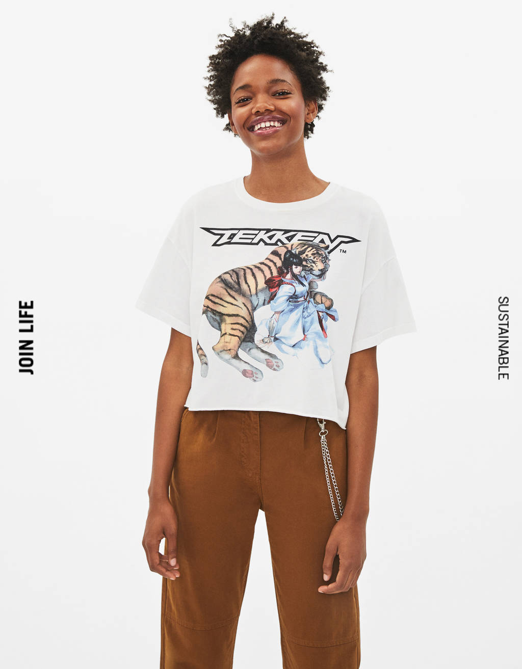 T-shirt cropped Tekken