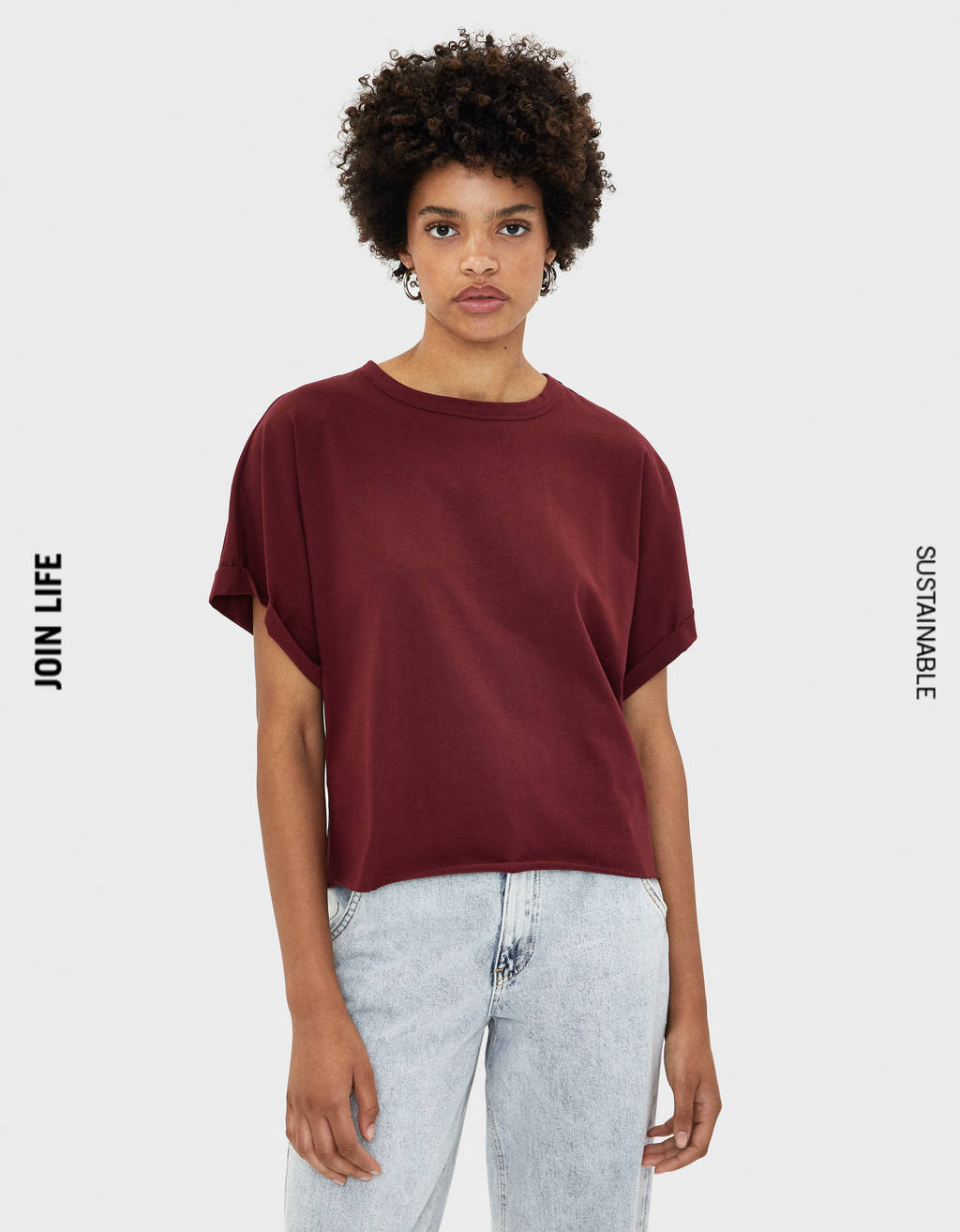T-shirt with back knot
