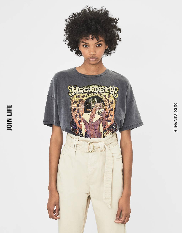 T-shirt med Megadeth print