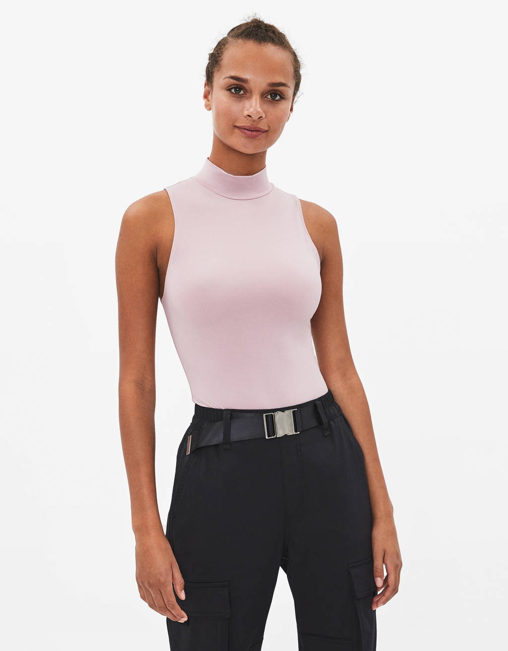 Strapless high neck bodysuit