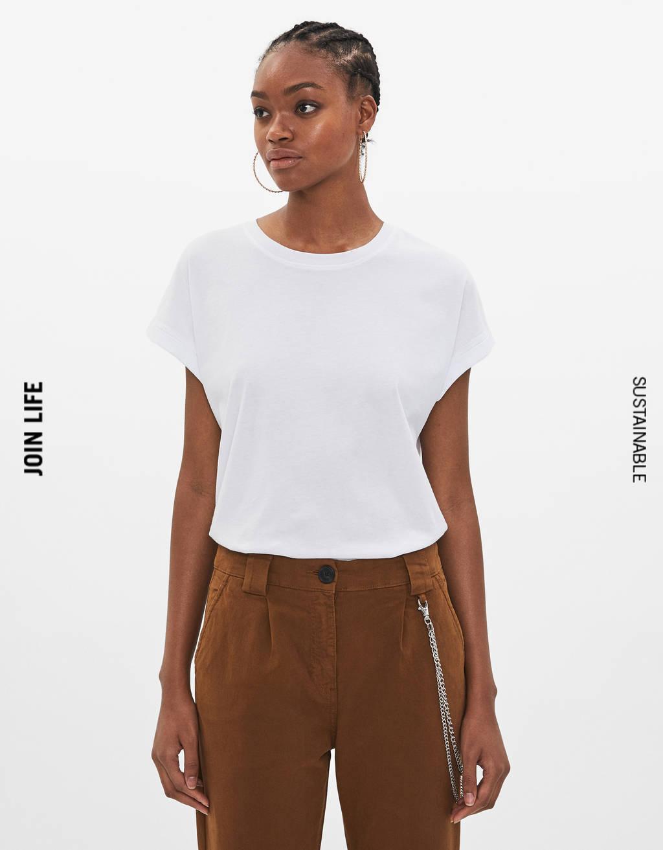 9c876e5879c Camisetas de mujer - Rebajas de Verano 2019 | Bershka