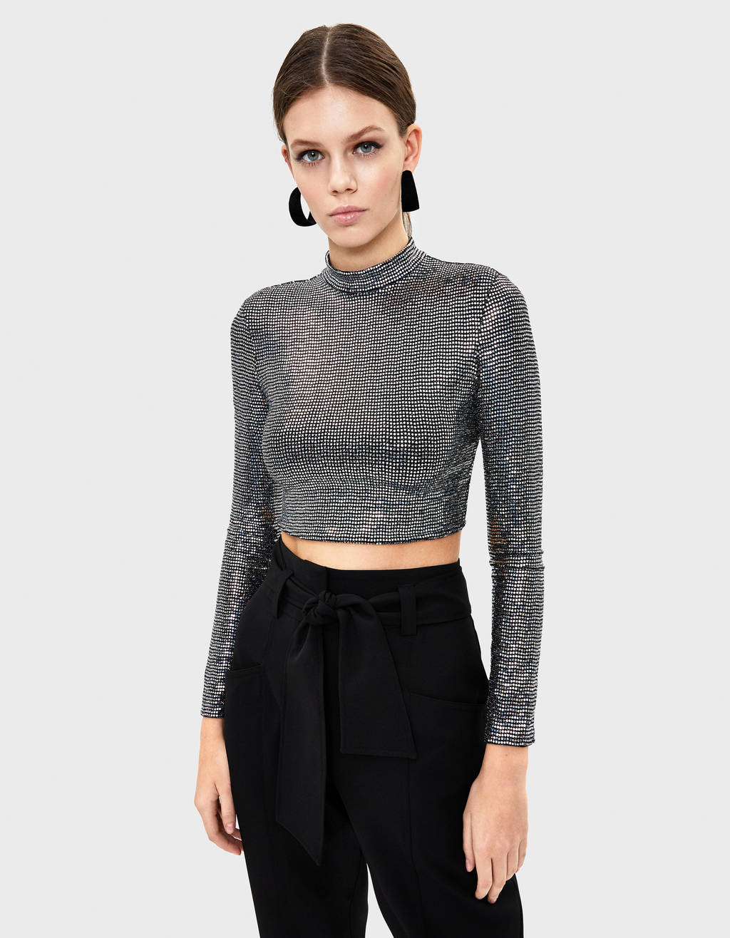 Mirrored sequin top