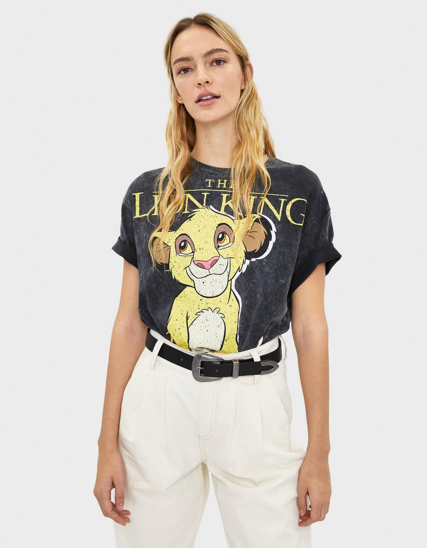 라이온킹 프린트 티셔츠