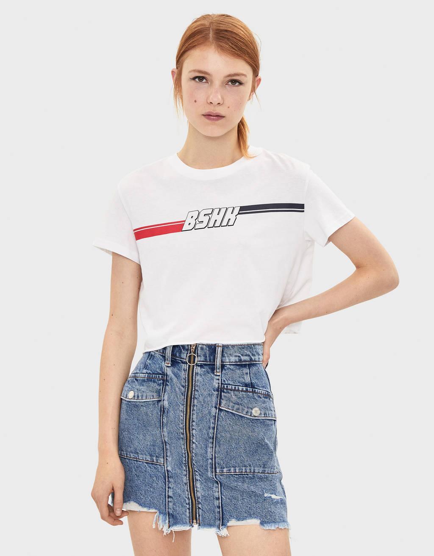 Bershka 로고 티셔츠
