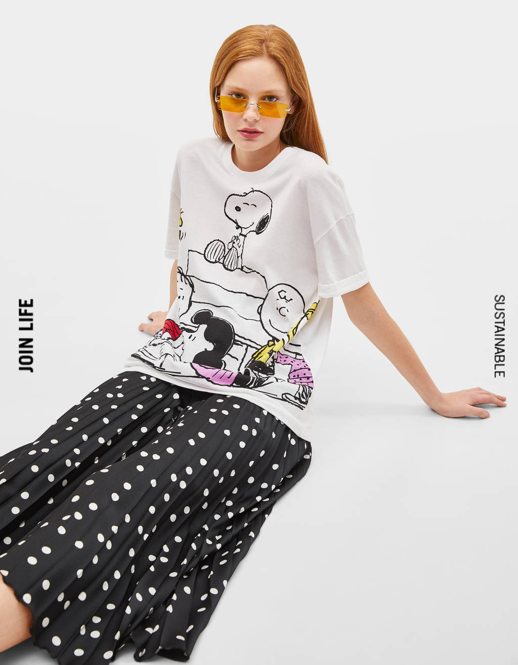 Snoopy print oversized T-shirt