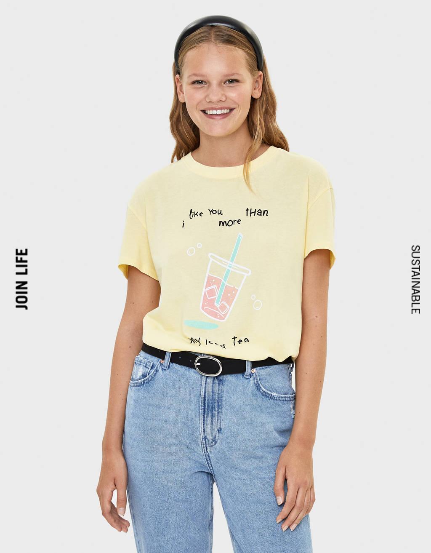 mejor lugar precio de calle vista previa de Camisetas de mujer - Otoño 2019 | Bershka