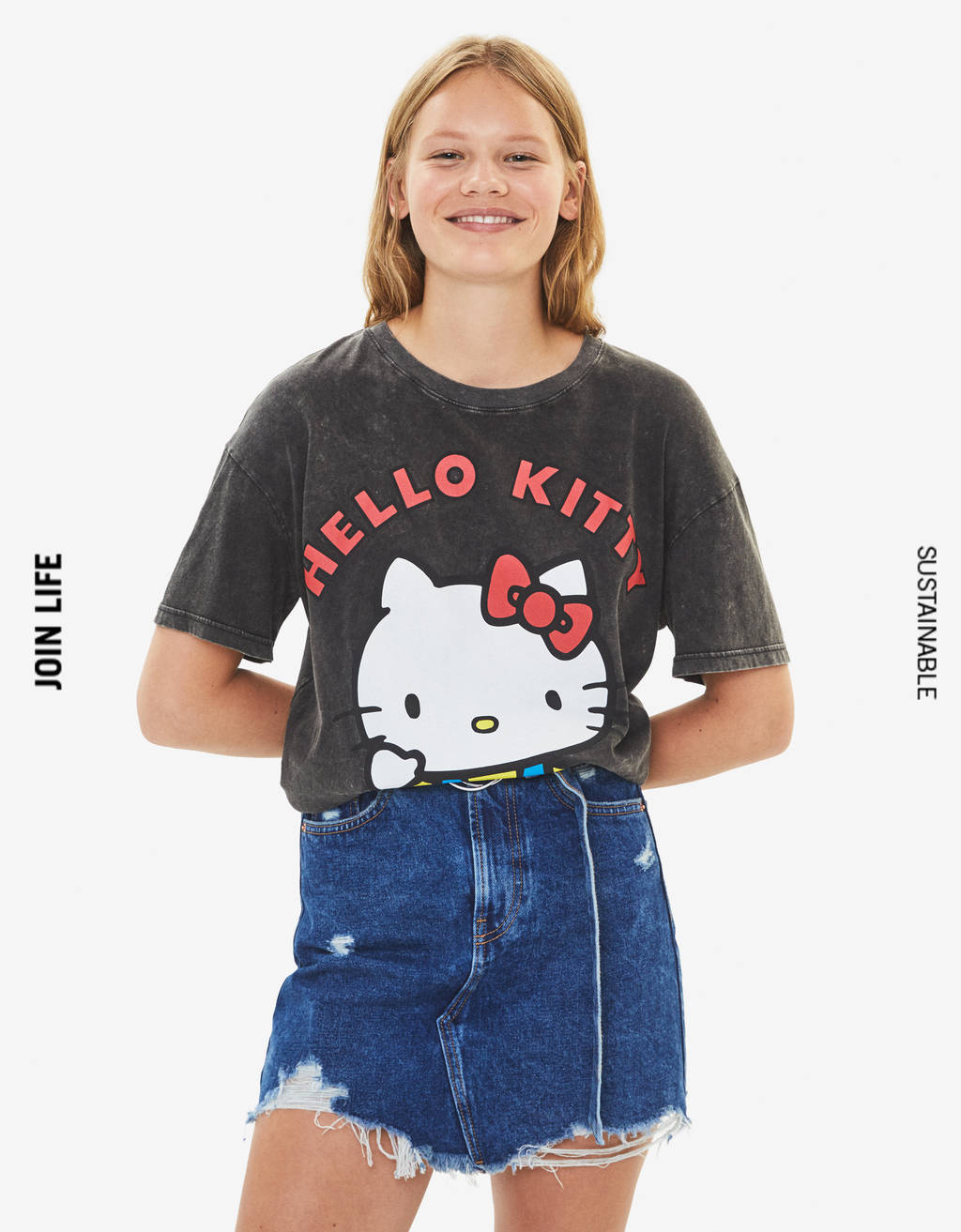Футболка с принтом Hello Kitty
