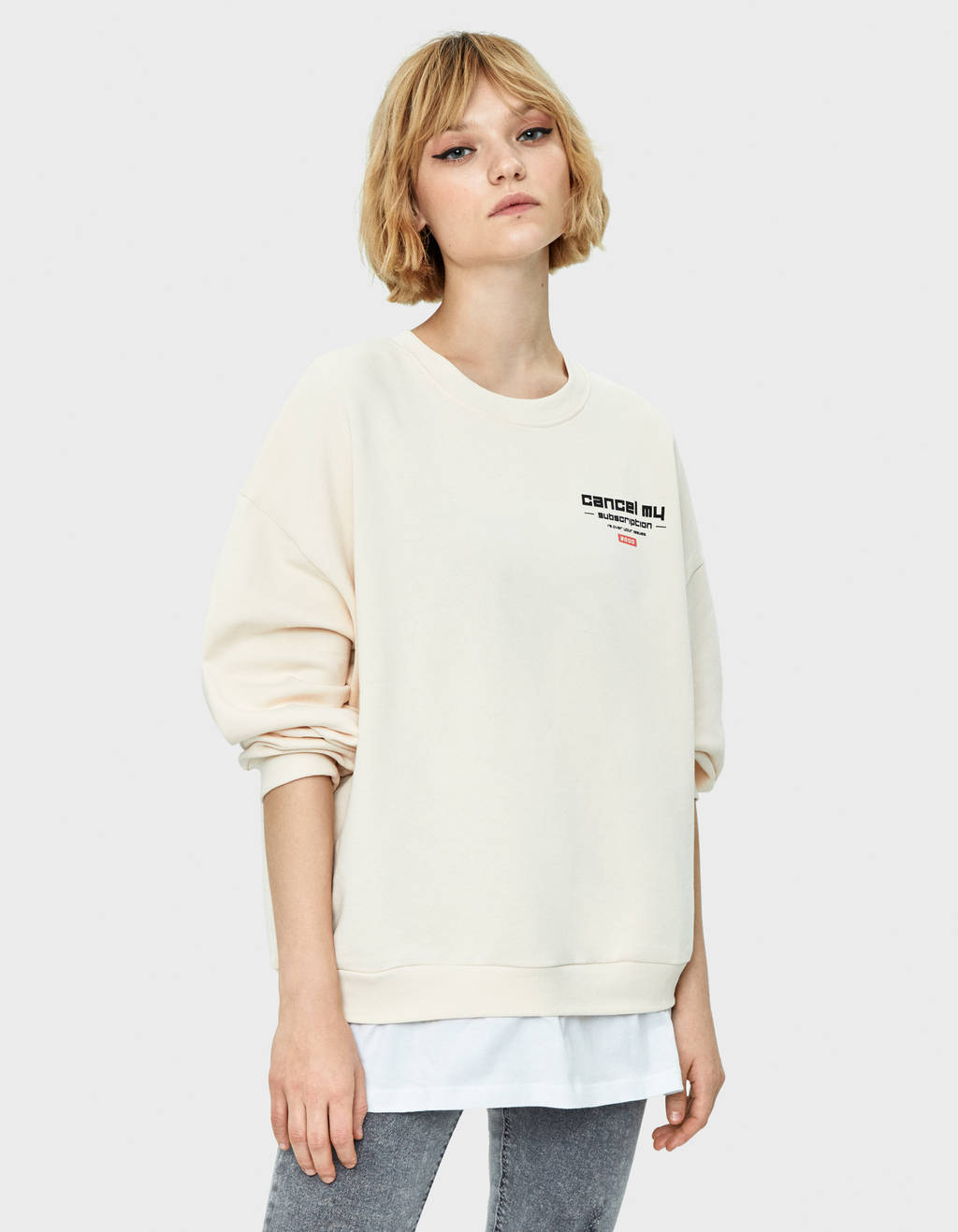 Double-layer sweatshirt