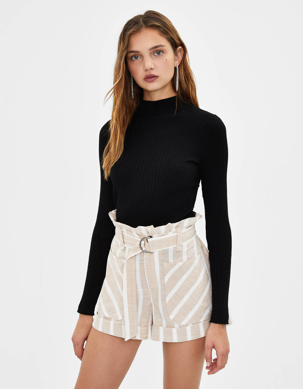 Shorts med bælte
