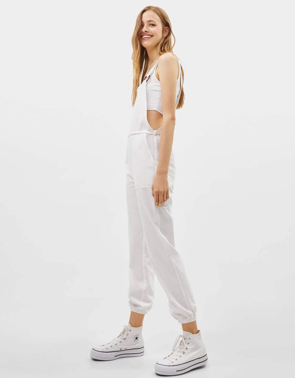 Twill dungarees