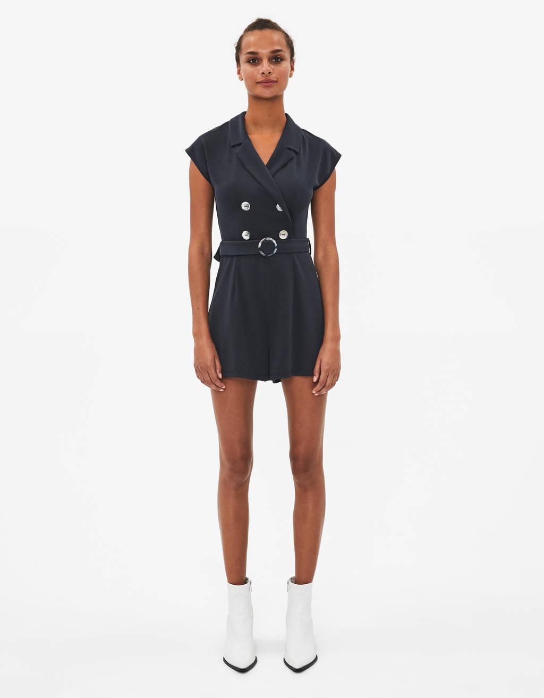 Short waistcoat playsuit