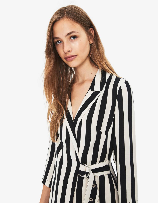 9611966c Short striped jumpsuit