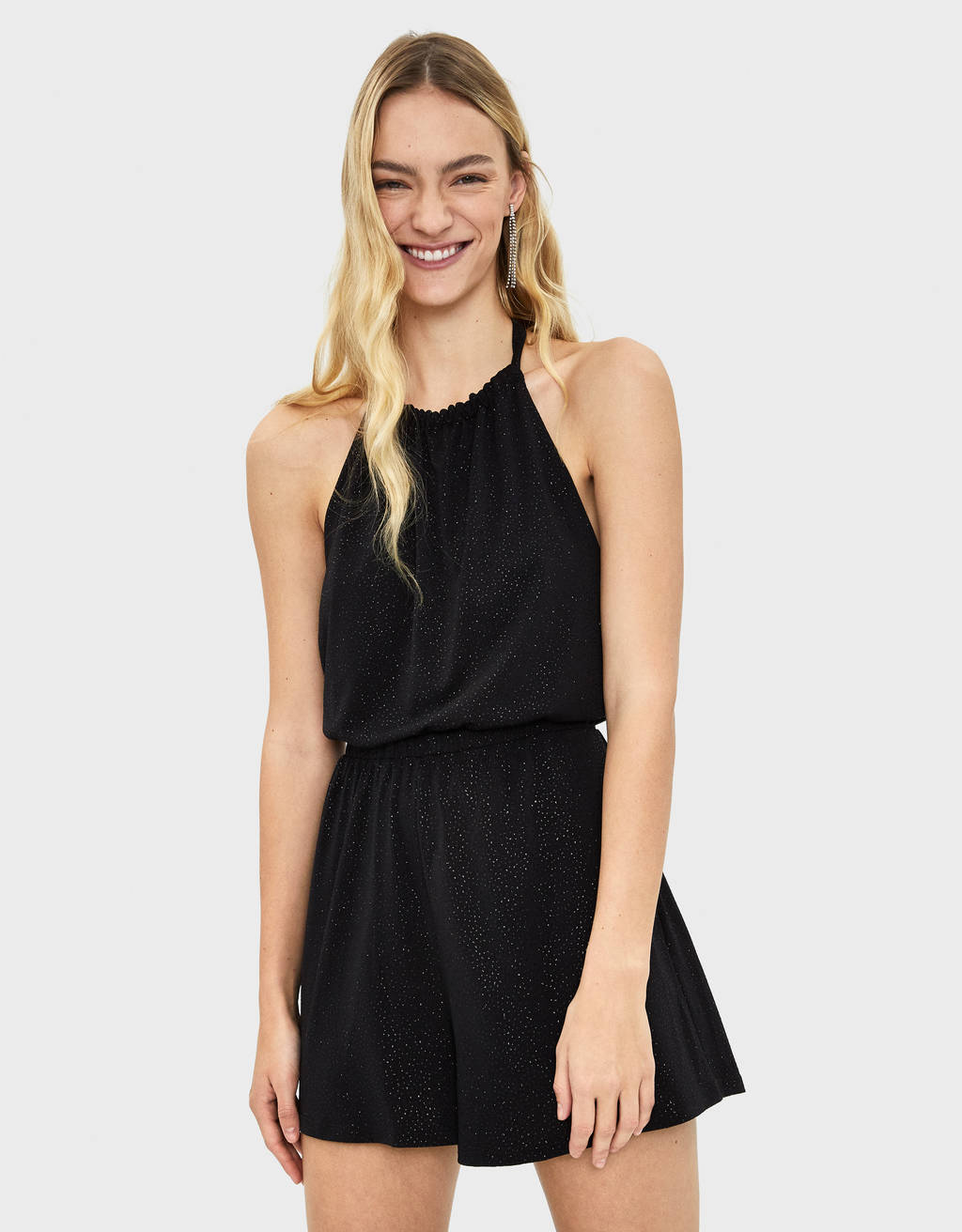 Short shimmer jumpsuit