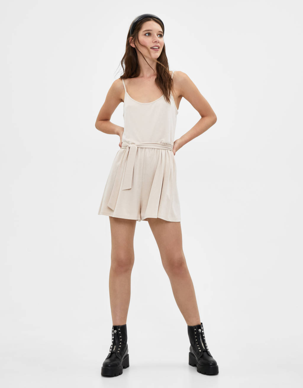 Playsuit with criss-cross back