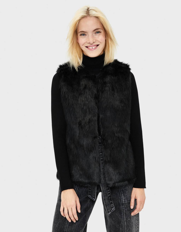 Faux fur waistcoat