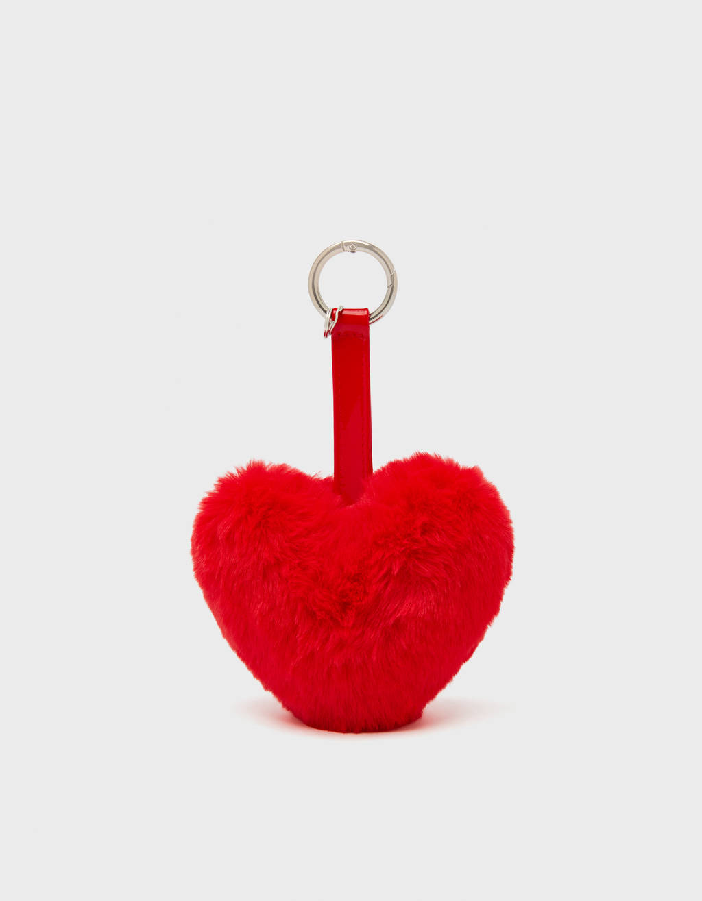 Key ring with pompom heart