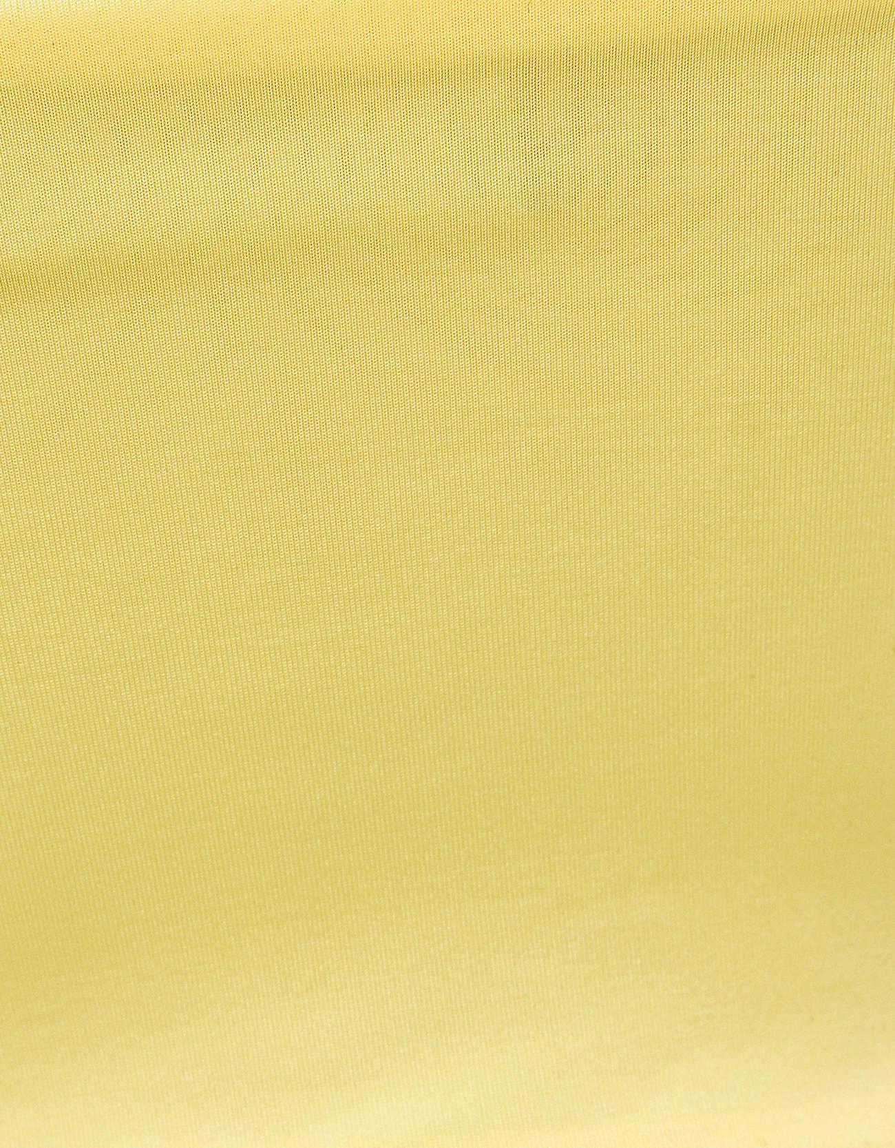 Топ с кружевом по вырезу Желтый Bershka