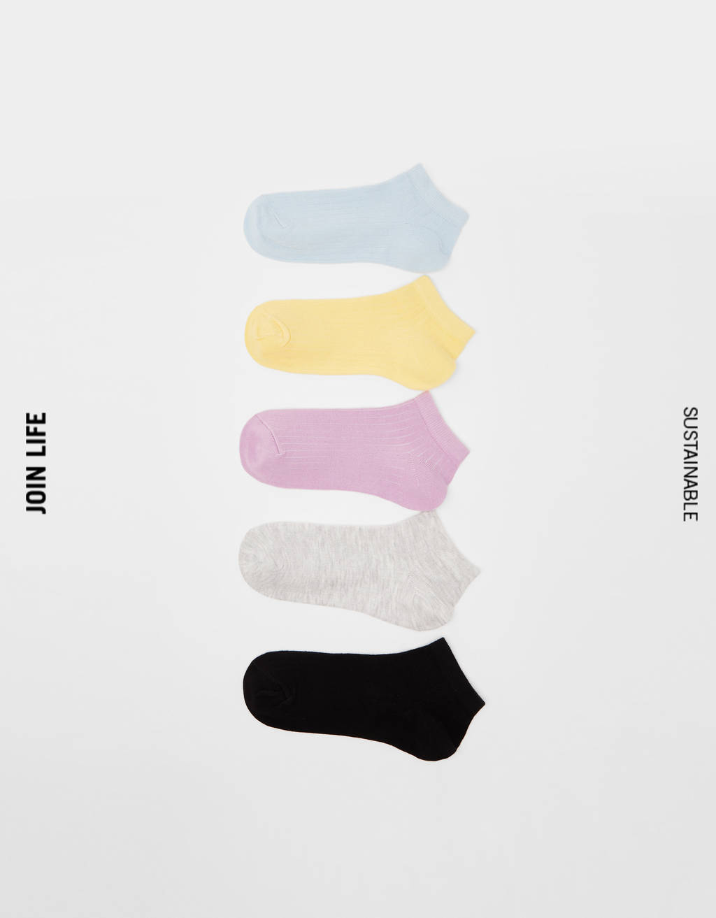Pack of 5 ribbed socks