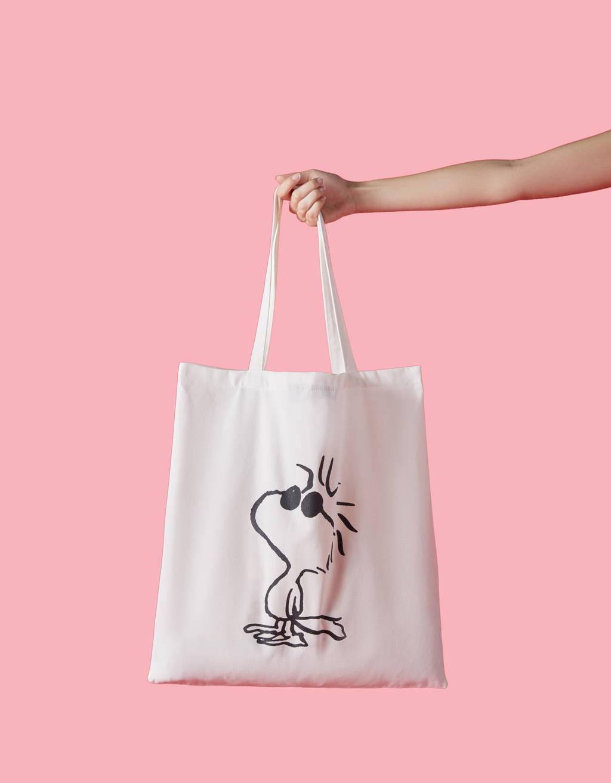 Torba Shopper Ze Snoopym by Bershka