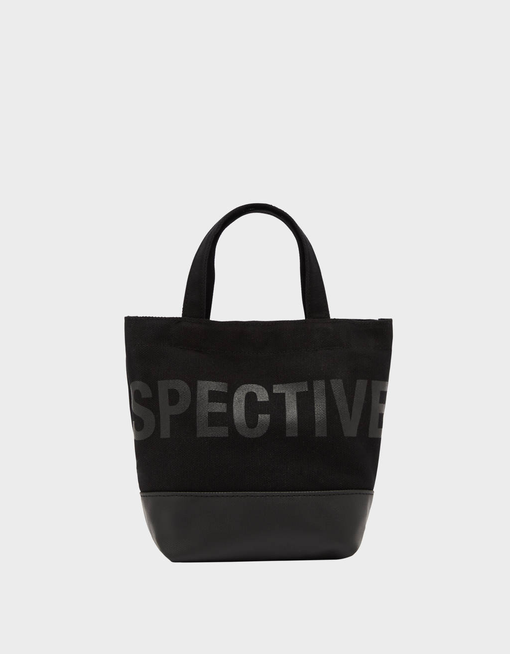 Printed mini tote bag