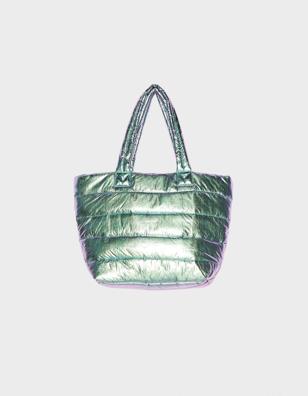 Bolso shopper tornasolado