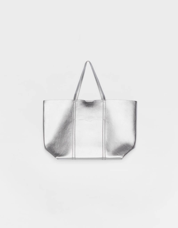 Bolso shopper metalizado