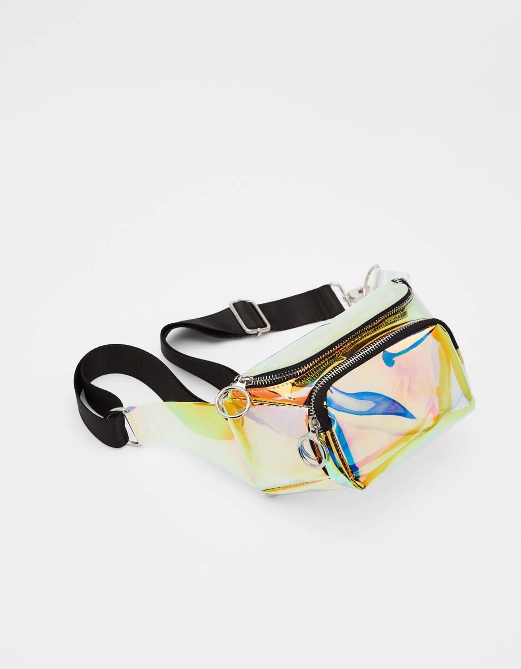 Iridescent belt bag