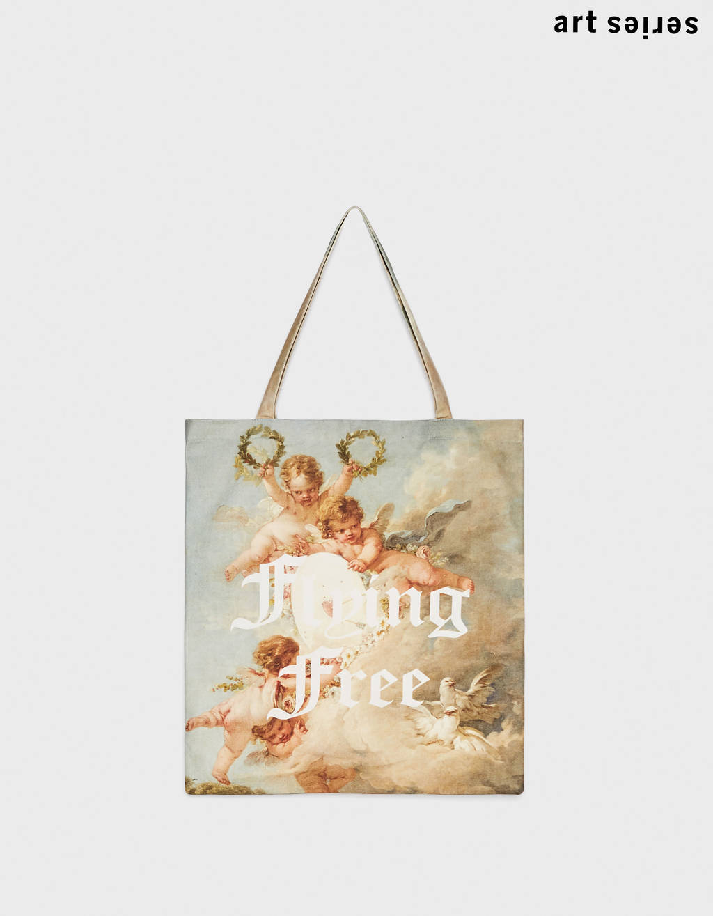 Angel print tote bag