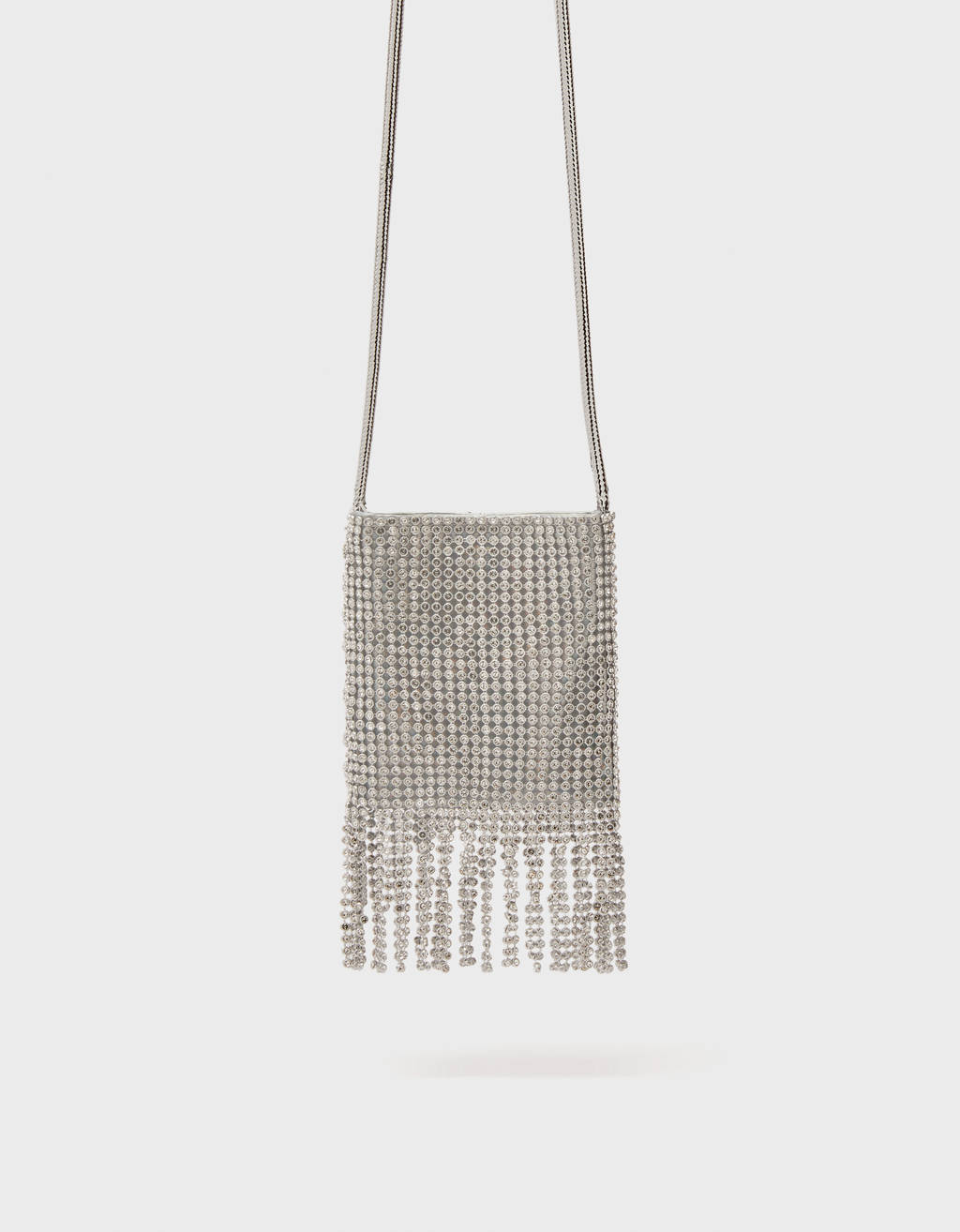 Shimmer bag with chain