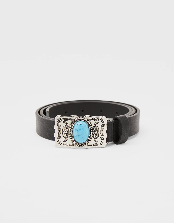 Cinturón con piedra turquesa