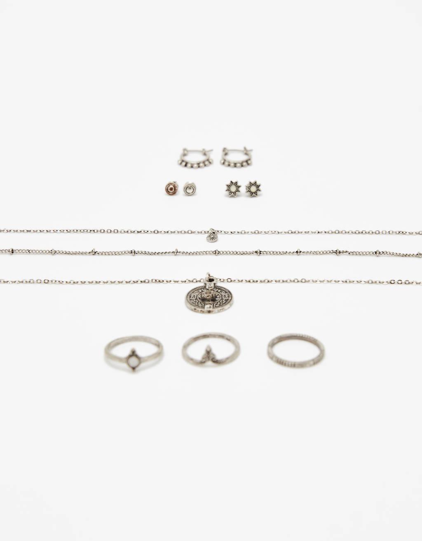 Set met boho juwelen