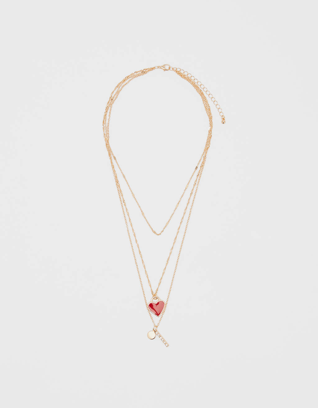 Necklace with heart charms