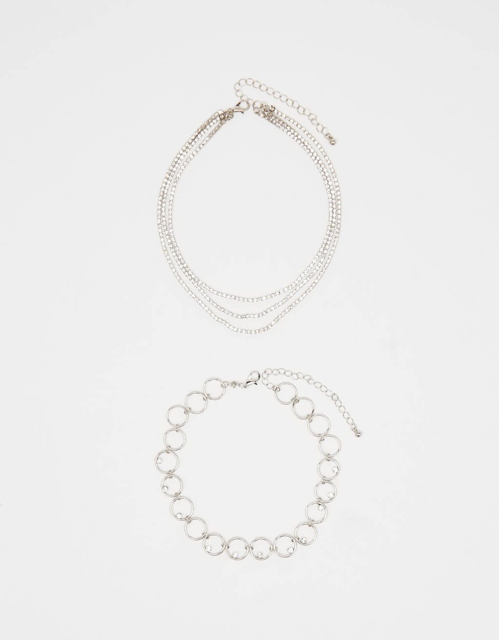 Pack choker strass