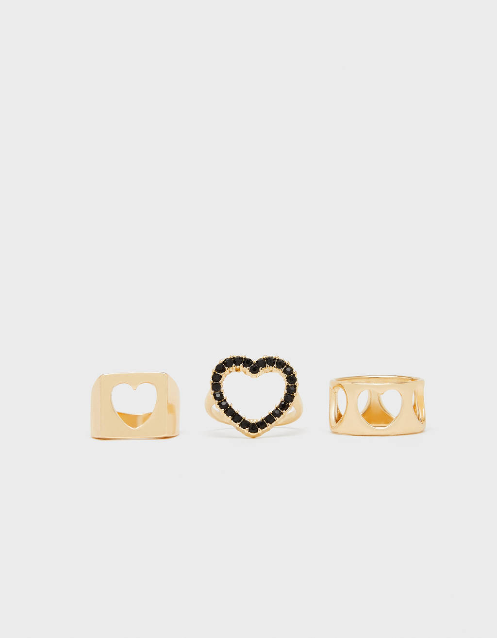 Set of heart rings