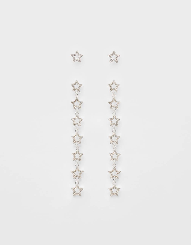 Dangle Earrings With Stars by Bershka