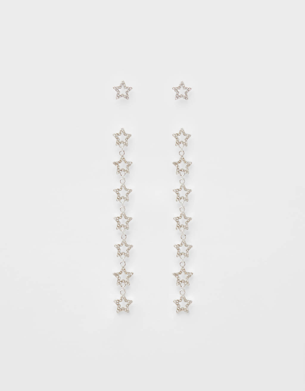 Dangle earrings with stars