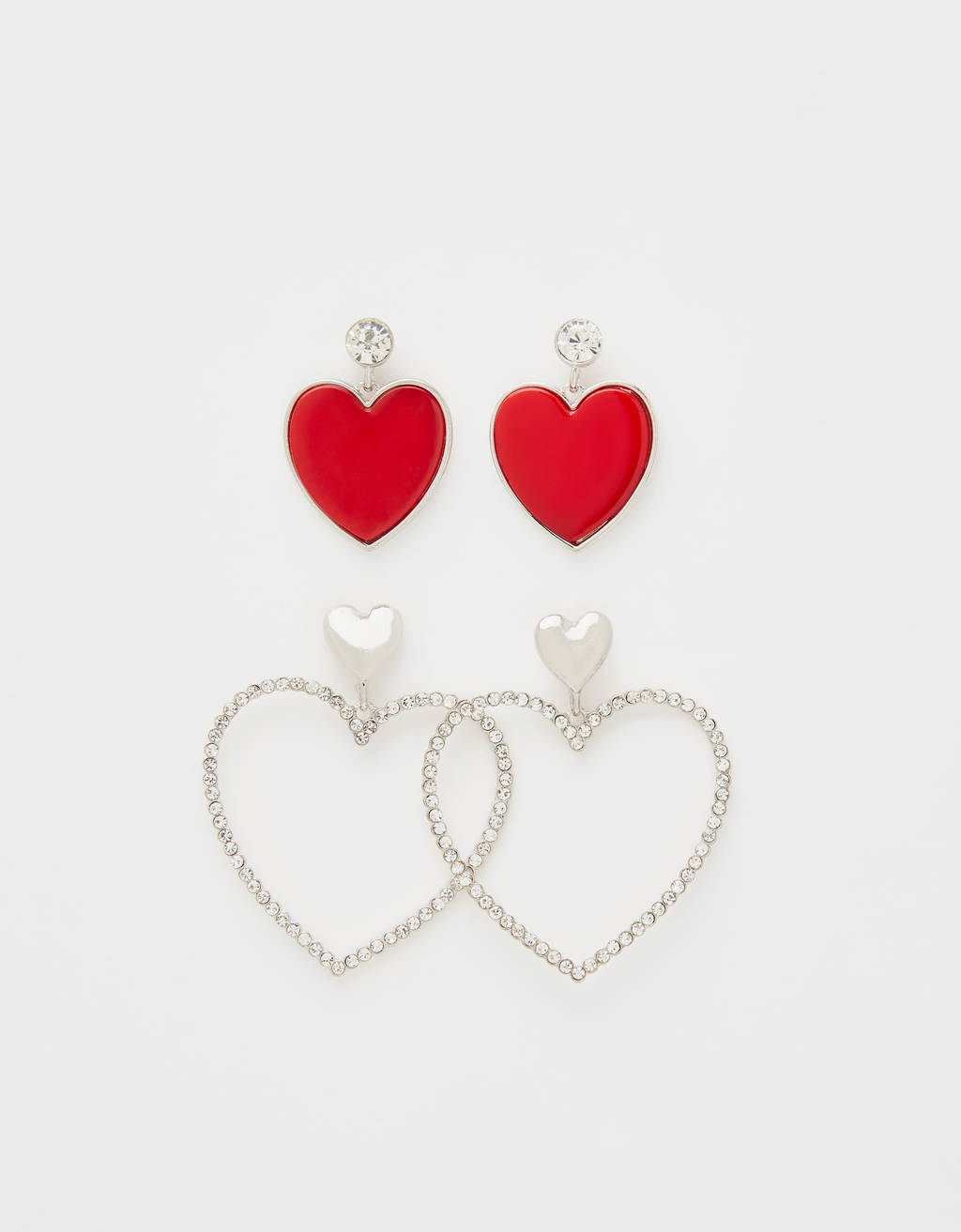 Set of heart earrings