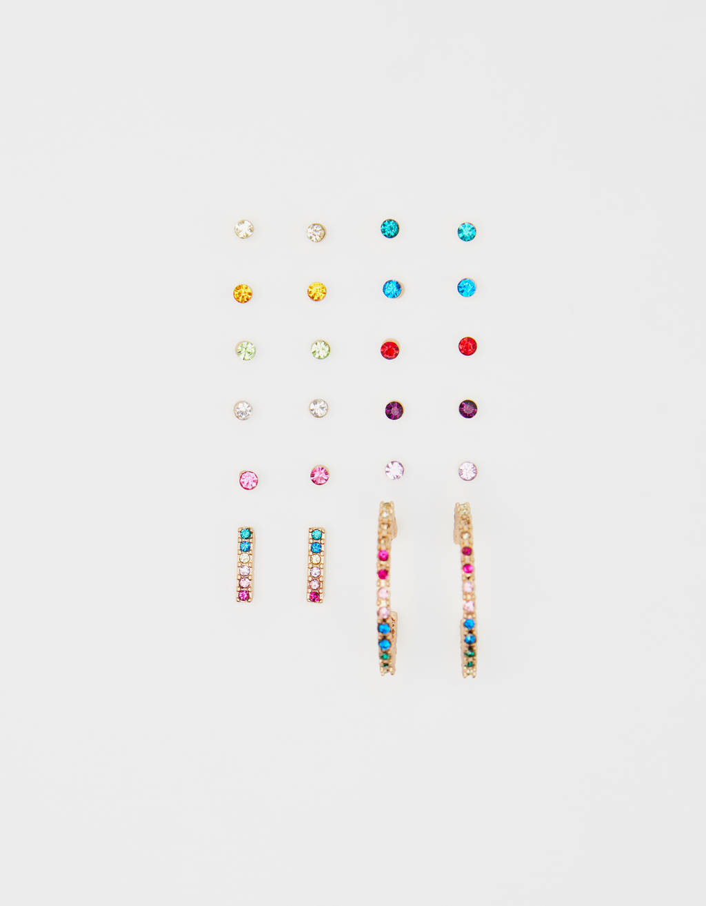 Multicoloured earrings set