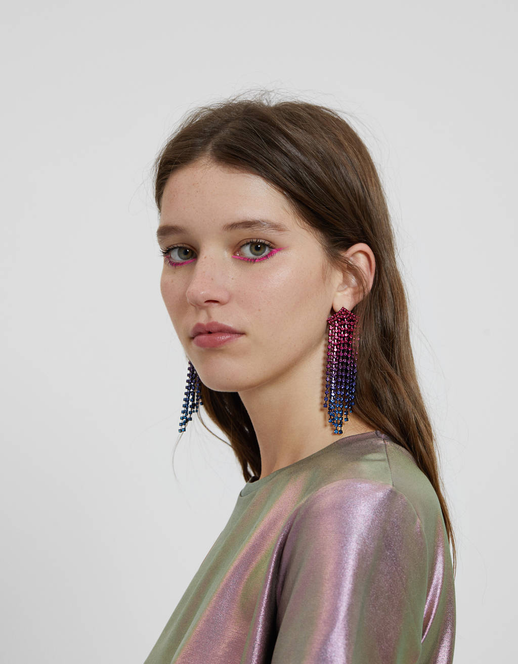 Shiny earrings