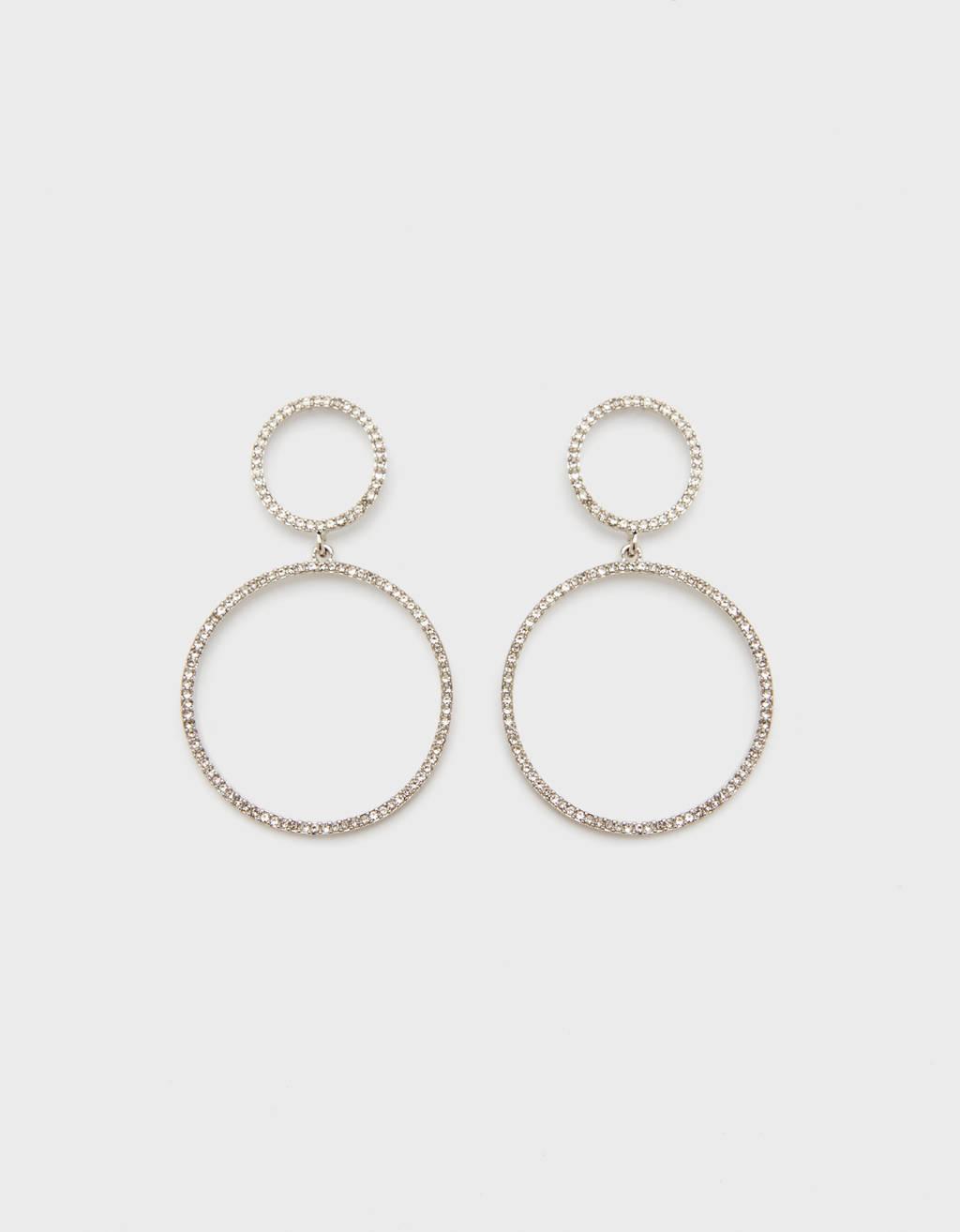 Boucles d'oreilles faux-diamants