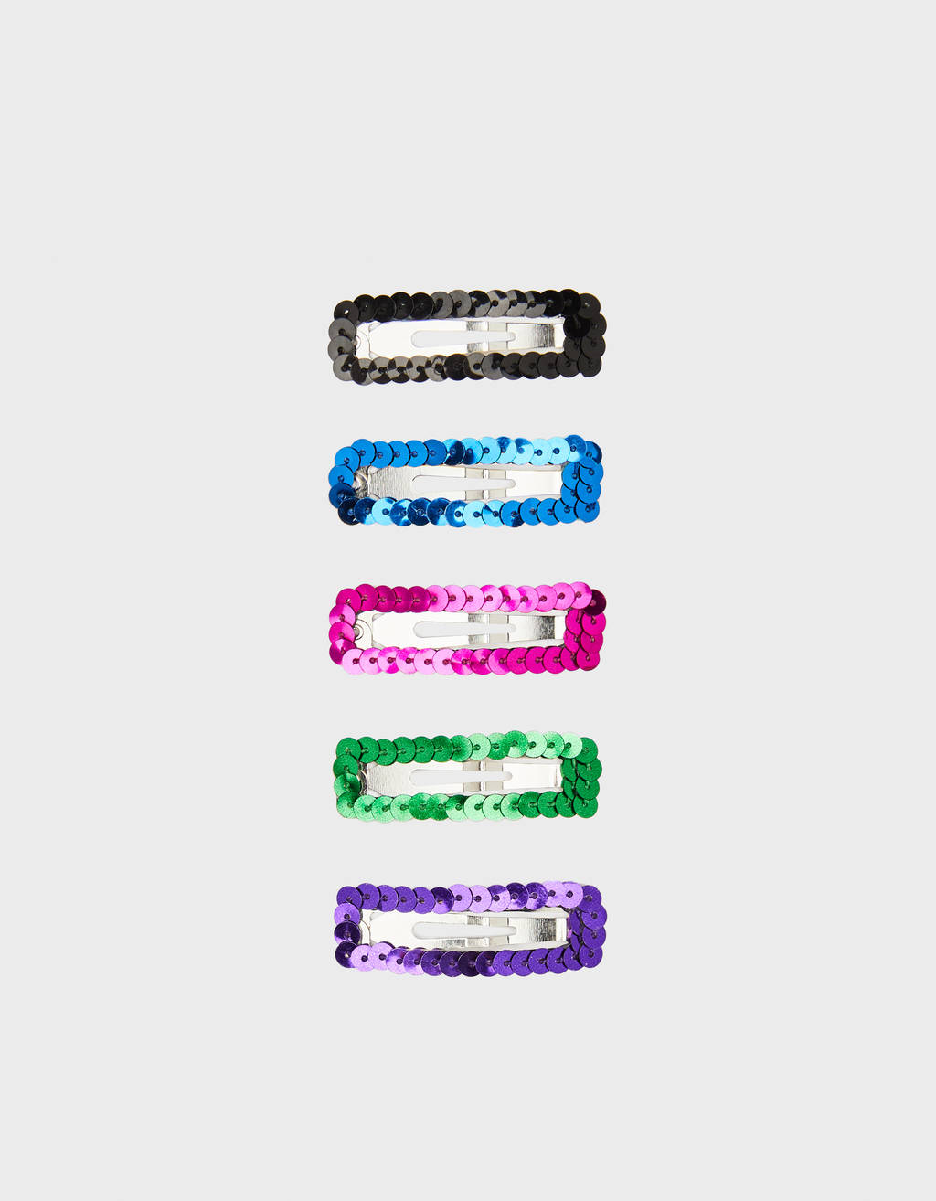 Pack of sequinned hair clips