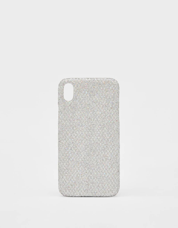 Carcasa con brillos iPhone XR