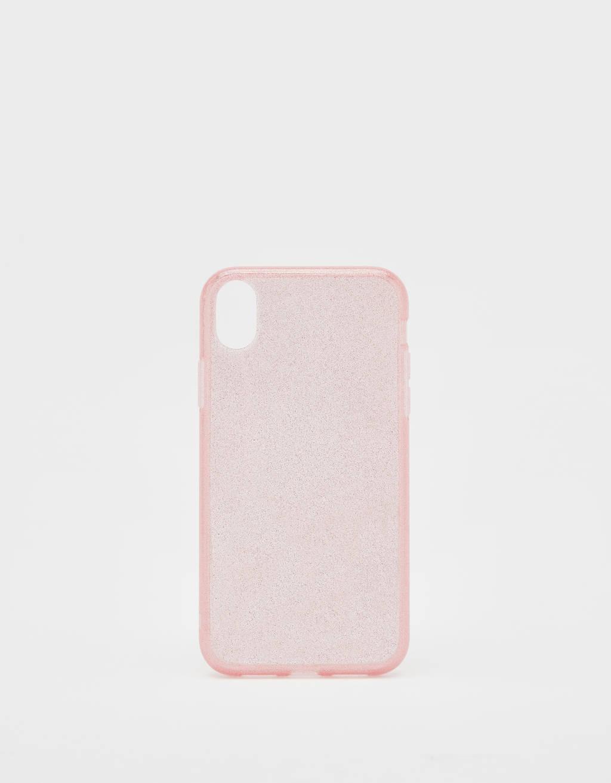 Capa com purpurina iPhone XR