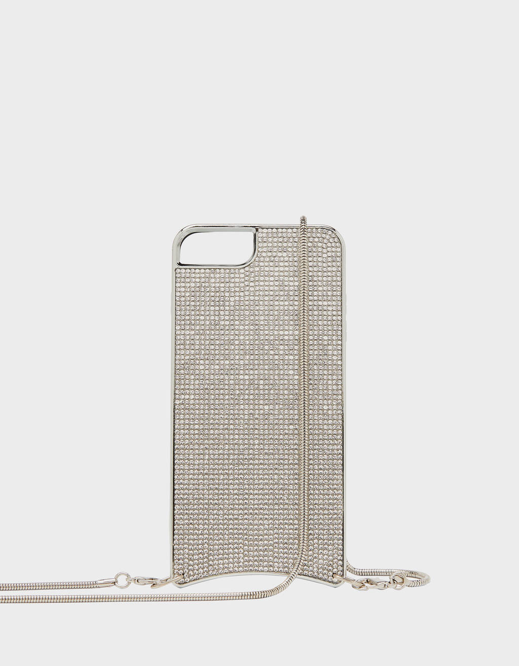 Carcasa con brillos y cadena iPhone 6 Plus / 7 Plus / 8 Plus