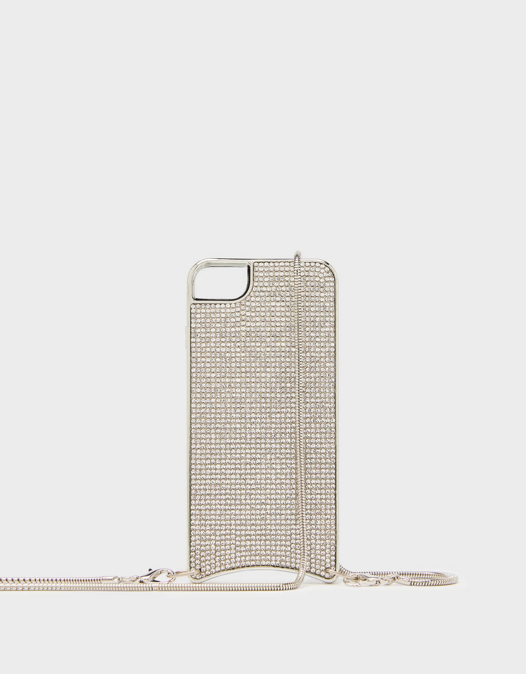 Carcasa con brillos y cadena iPhone 6 / 7 / 8