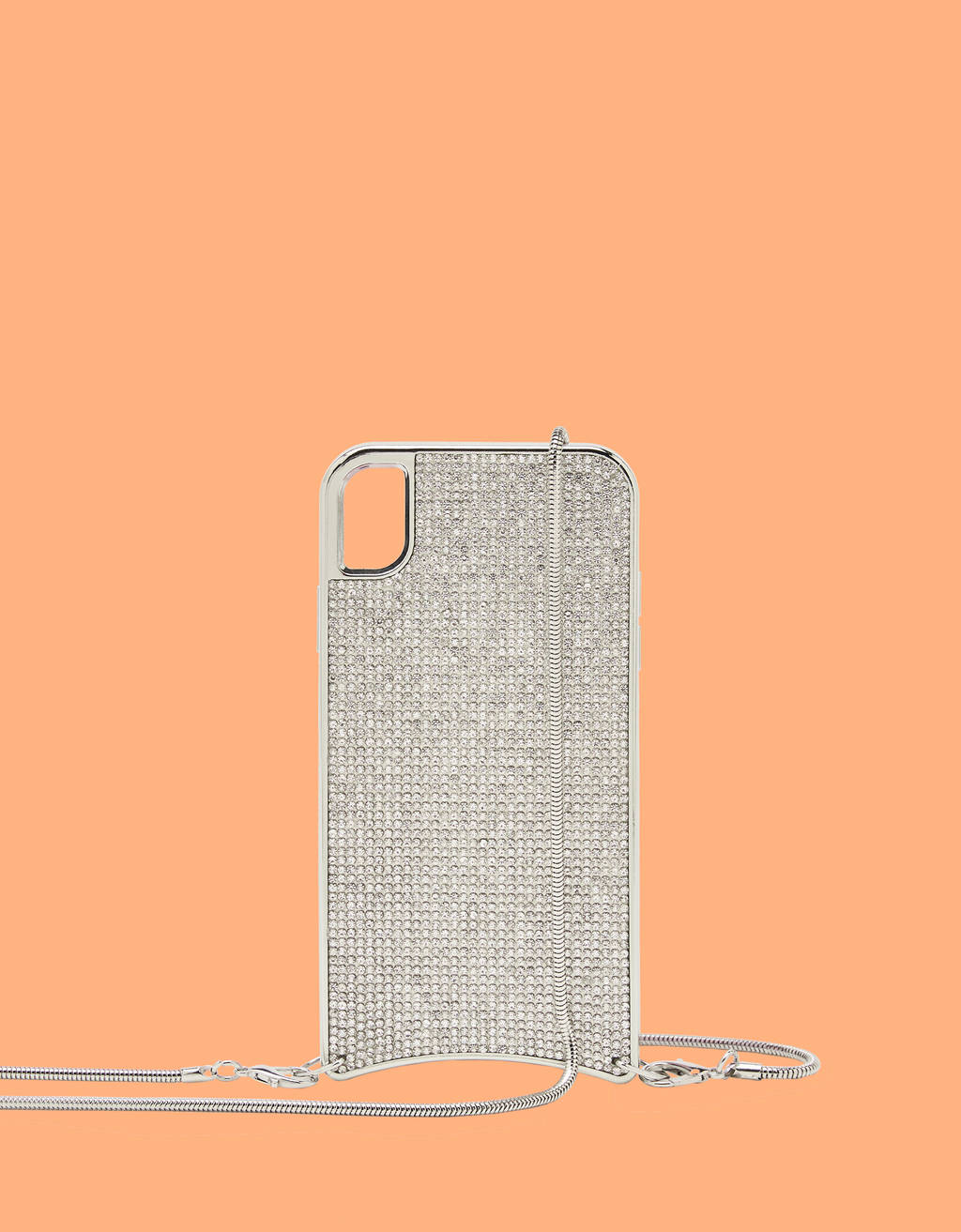 Rhinestone case with chain iPhone XR