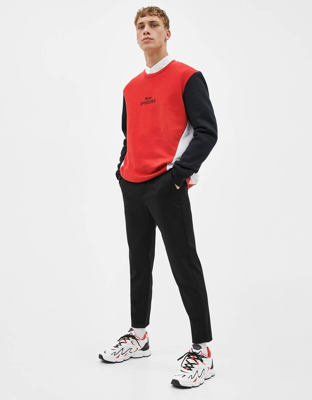 Skrajšane skinny fit hlače