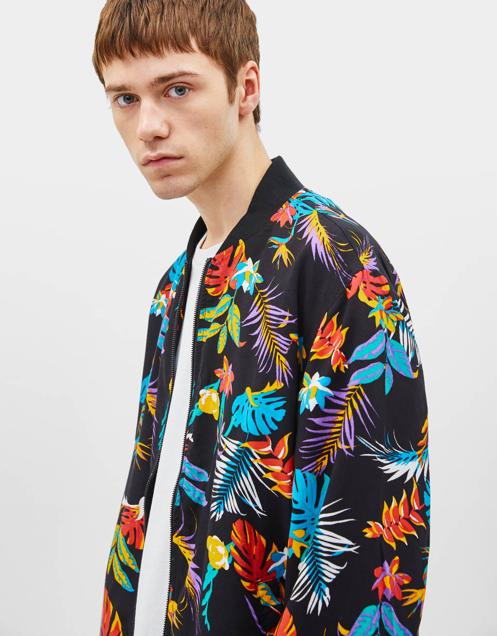 Bomber jacket com estampado