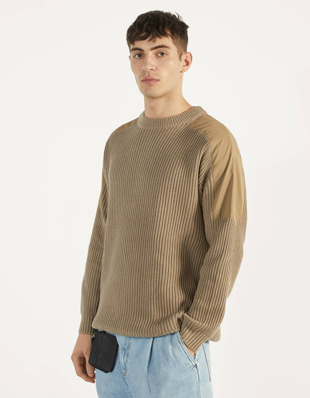 Sweater with nylon details