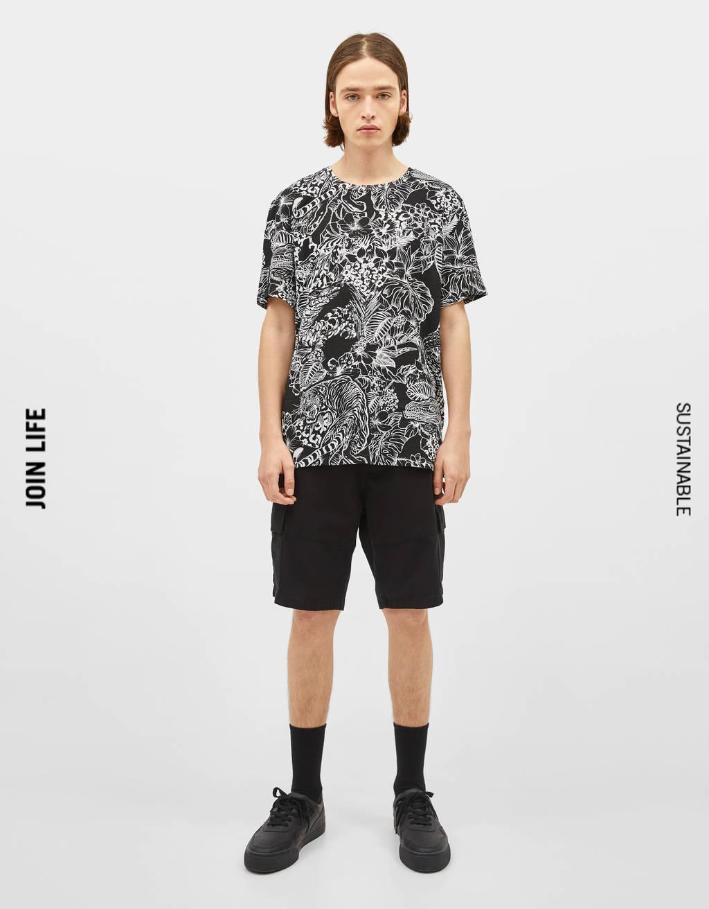 Majica s cvjetnim printom